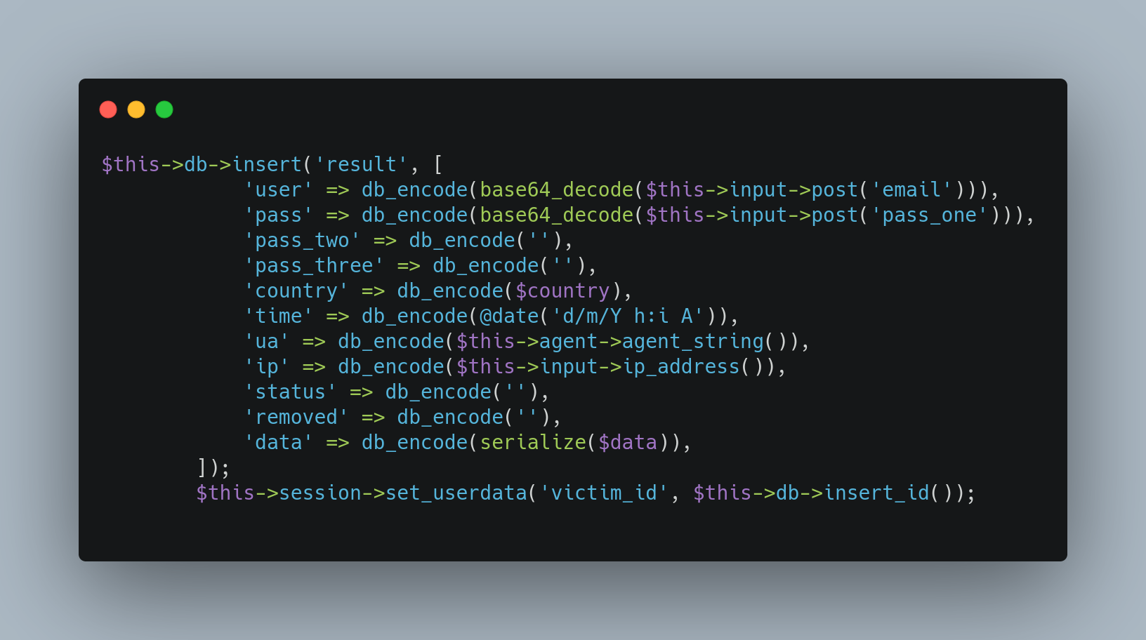 DatabaseSaveSnippet